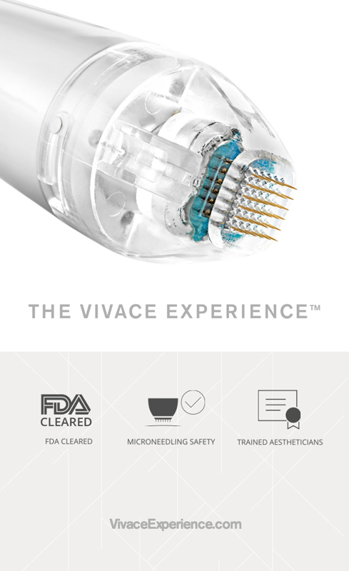 vivace mironeedling device at perceptions aesthetic spa