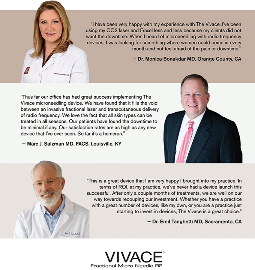 testimonials from physicians for vivace fractional micro needle rf