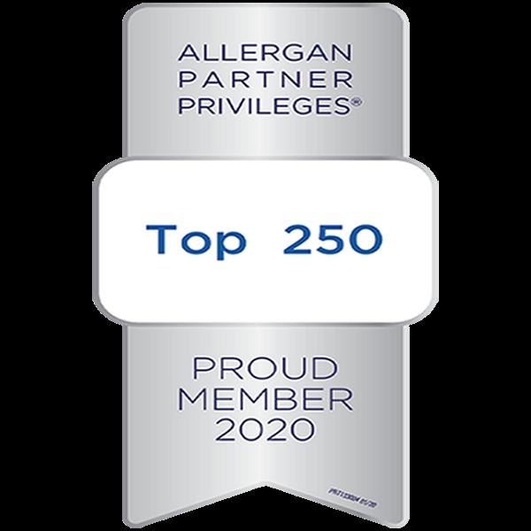 allergan top 250 member 2020 perceptions aesthetic spa