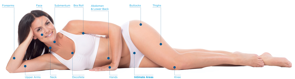 exilis ultra treatment areas at perceptions aesthetic spa